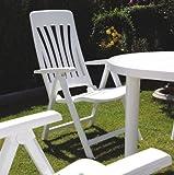 Resol Blanes Folding Multi-Position Garden Armchair - White Plastic