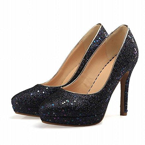 Mee Shoes Damen simple kurzschaft high heels Ankle Boots Weiß