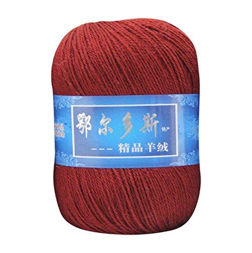 Wolle Ball, wuayi natürlich glatter Seide Weich Kaschmir Garn Wollüberzug aus Mongolisches aus Wolle DIY Weave Gewinde, e, 20*20*20cm (Beanie Babies Lamm)
