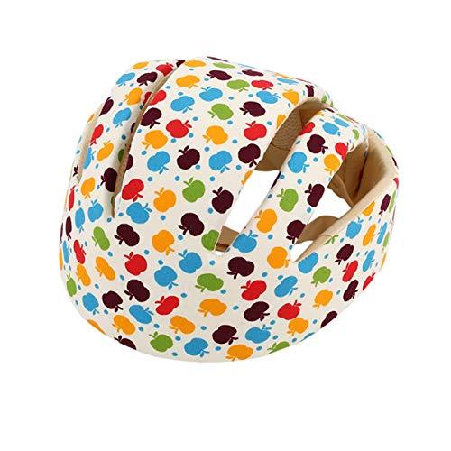 Apple Cotton Cap (Baby-Schutzhelme Cotton Baby-Schutzhut Kopfschutz für Neugeborene Jungen Mädchen Crashproof Anti-Schock-Hut-Apple Flower-1 Größe)