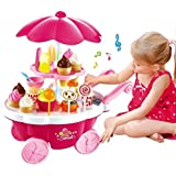 Pretend Play Toy Ice Cream & Sweet Shopping Cart With Music Role Play Toys