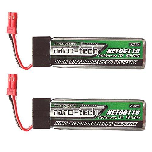 Premium Ersatz Lipo Akku Batterie für Blade 180QX UFO RC DROHNE UDI U818A U817A U817C S032G Syma 120SR MQX Solo Pro 328 NE106118 Walkera V120D02S WLtoys V929 V 929 Beetle 600mAh 35C von Mr. Stecker Modellbau (2x Stück)