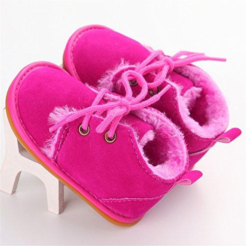 Estamico Baby Winterstiefel Jungen Mädchen Gummisohle Kleinkind Schuhe Rose Red