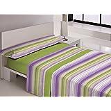 Juego sábanas térmicas DELAVE Libela. Cama de 90 cm. Color Verde - Sedalinne