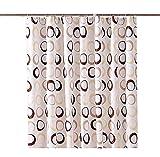 Cheerlife Große Kreis Duschvorhang Anti-Schimmel wasserdichter Polyester Tuch mit 12 Duschvorhangringen 240 x 200 cm