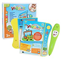 Anself Sound Board Book for Kids Interactive Children's Sound Book with Learning Pen Parent-child Interaction Fun Educational Toys for 3 Years +