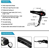 TOPHAVEN Professional Stylish Hair Dryers with 2 Switch speed setting For Women And Men Hot And Cold Hair Dryer (2000 WATTS)