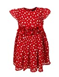 Chicabelle Girls' Sleeveless Red Georget...