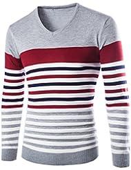 Moin Jerseys del hombre Suéter de cuello en V Vestido Slim Fit Estilo Británico