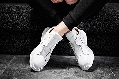 Uomini Traspirante Casuale Scarpe Di Pelle 2017 Autunno Inverno Nuovi Scarpe Da Ballo Di Scarpe Sportive Di Scarpe Basse White