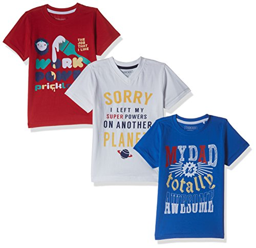Cherokee Boys' T-Shirt (Pack of 3) (272514700_ASSORTED_05Y_HS)