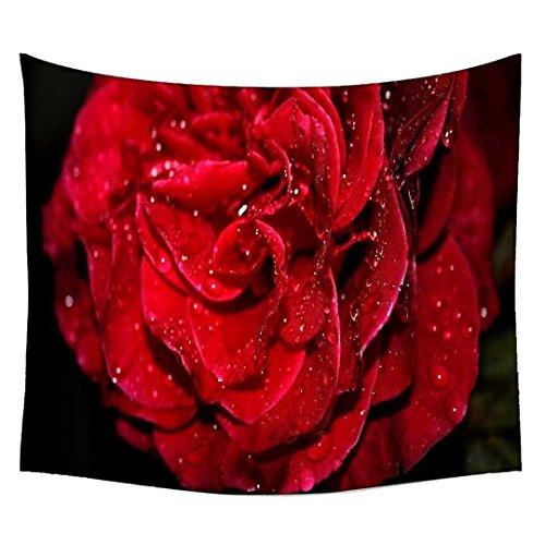 Snoogg Wasser auf Rot Rose Wandteppichen indischen Mandala Tapisserie Dekorative Wohnheim Wandteppichen Beach Picknick Tabelle Hippie Tapisserie Wand, Bohemian