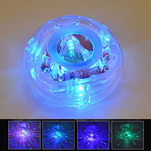 Haihuic Salle de bains LED Light Underwater Light Show Lampe flottante ampoule pour le jouet de piscine de baignoire de bébé (paquet de 1)