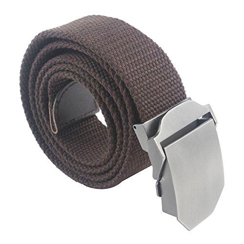 Forepin® Fashional Mens Slider Fibbia Canvas Belt Canvas Belt Stile Vita Regolabile Cintura Canvas Web Cintura Perfetti per Decorare con Tutti i Tipi di Vestiti Diresistenza