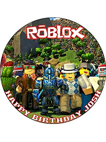 Roblox 7 5 Personalised Cake Topper On Icing Wafer Paper Or Card