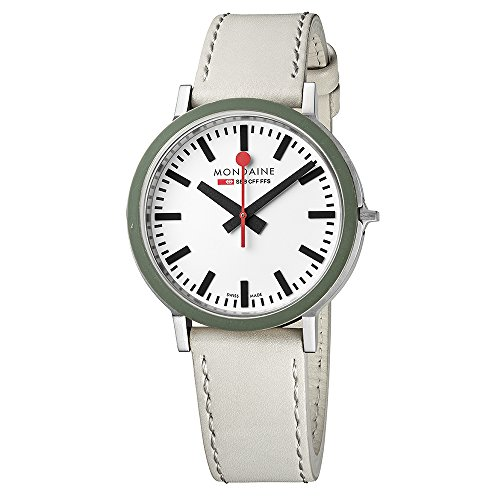 Mondaine Men's Stop 2 Go Gottardo 41mm White Quartz Watch A9500.30363.G.Set