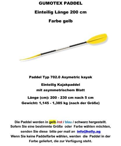 Remo Tipo 702.0Asymetric Kayak Descripción del producto-Remo para Kayak con asimétrico hojas de una sola longitud (cm): 200-230cm después de 5cm Peso: 1,145-1,385kg (según el tamaño de remo disponibles colores: azul-amarillo-rojo-negr...