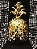 Medusa Deko ANANAS Strass Figuren Keramik Dekoration Dekoananas Obst Deko Gold Figuren Sehr EDEL