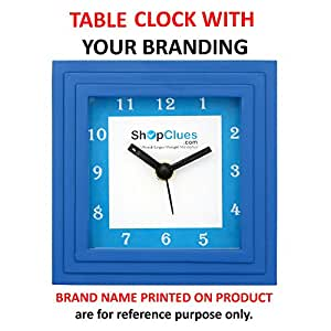 ART N HUB Set of 100Pcs. Table Clock Combo (Rs. 138 Each) with your brand logo & Image - Desktop Analog Quartz with Glass - Unique & Decorative Corporate Gift Items for office Décor Diwali Gifts