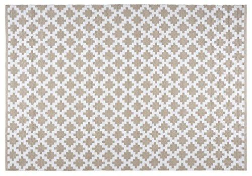 Creative carpets Alfombra para Interiores y Exteriores, Plástico y PVC, Beige y Blanco, 160 x 230