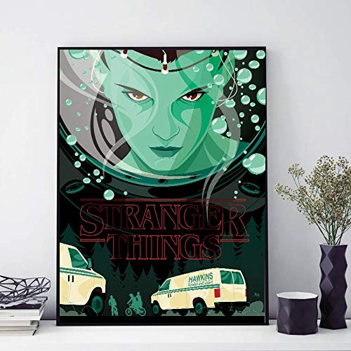 TV Serie seltsame Dinge ästhetische tapete Poster wandkunst leinwand ölgemälde dekorative malerei Dekoration HD rahmenlose malerei 24x30 cm