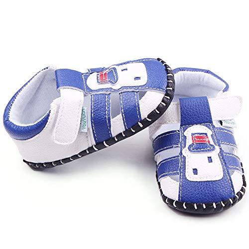 Yichener Baby Jungen Sandalen Kleinkind Scrub First Walkers Kinder Schuhe Sommer PU Baby Sandalen Neugeborene Casual Soft Schuhe -