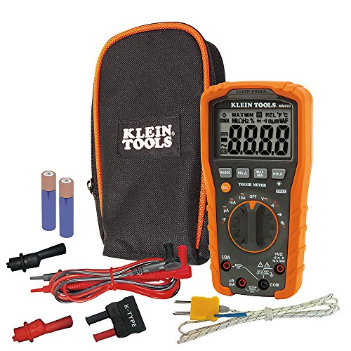 Digitales Multimeter, automatische Bereichseinstellung, 1000 V, CAT IV, Orange/Schwarz, MM600 Klein Tools Automotive Digital-multimeter
