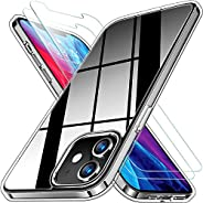 Clear Case transparent cover for iPhone 12 / iPhone 12 Pro/iPhone 12 mini/iPhone 12 Pro Max and Glass Screen P