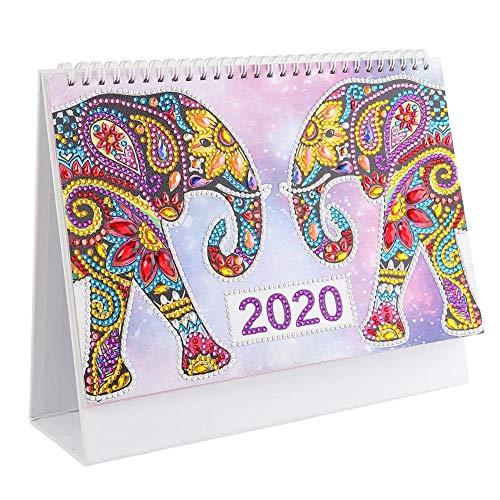 Calendario de pared con diseño de mandala para planificar el año 2020