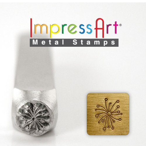 ImpressArt Design Stamps, Metal Punch Stamp 'Dandelion'