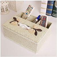 ACZH Caja de Pañuelos Paño/Caja de Papel Caja de Pañuelos de Tela Multifunción Creativa