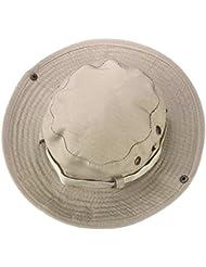 Tongshi Sombrero del cubo de Boonie Pesca Caza al aire libre Amplia Cap Brim Militar