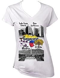 teesquare1st Venezuela Caracas Camiseta para Mujer de Algodon
