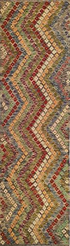 Mollaian passatoia kilim 293 x 87, originale kilim kaudani melange, colori naturali e vegetali, garanzia
