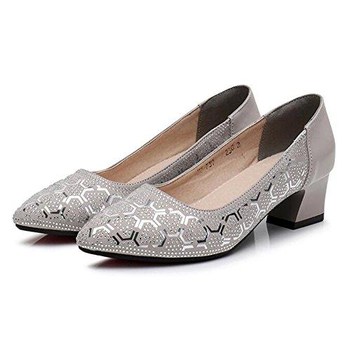 QIDI Damenschuhe Lässig Atmungsaktiv Gummi Modisch Drucken Einzelne Schuhe (Farbe : T-1, Größe : EU35/UK3)