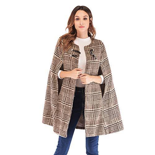 Mambain giacca donna invernale mantello trench donna elegante parka donna caldo taglie forti giubbotto cappotti di lana donna manica lungo antivento imbottito pesante giacche