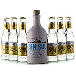GIN SUL(1 x 0.5L) + 6 Flaschen Fever-Tree Tonic Water (6 x 0.2L) Gin Sul