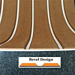yuanjiasheng 90×240cm EVA Synthetic Boat Decking Sheet Yacht Marine Flooring Anti Slip Carpet With Backing Adhesive,Bevel Edge 12