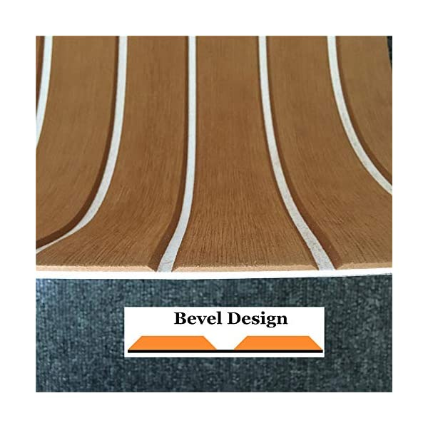 yuanjiasheng 90×240cm EVA Synthetic Boat Decking Sheet Yacht Marine Flooring Anti Slip Carpet With Backing Adhesive,Bevel Edge 3