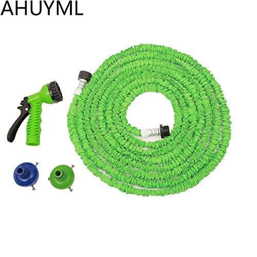 Shoppy étoiles Jardin Eau Tuyau 25 76,2 m Extended Magic Flexible Eau Tuyau d'arrosage Tuyau d'arrosage Spray télescopique Pistolet à Eau de Voiture d'irrigation de 15,2 m Green
