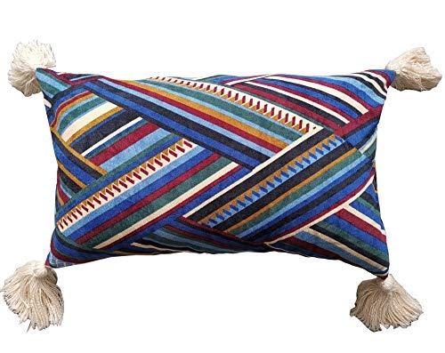 Flber Fransen-Überwurfkissen Boho Texturiert, gewebt, 30,5 x 50,8 cm, 100% Baumwolle 12
