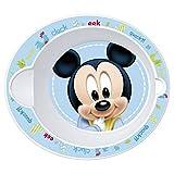 Baby Teller Menuelöffel Mikrowelle Disney Mickey Diam. 16cm Schüssel oval * NEU *