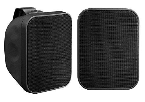 Paar Pronomic OLS-5 BK DJ PA Outdoor-Lautsprecher für Garten, Terrasse, Restaurant (2 x 120 Watt, Schutzart IP56, 8 Ohm, 5,25
