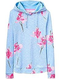 Joules Marlston Print Hooded Sweatshirt - Sky Blue Orchid