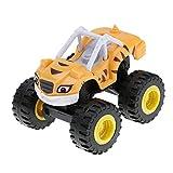 1PC mini-flammes et machines de monstre Figure Bigfoot voiture jouet de camion pour bébé enfants jaune