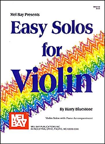 Easy Solos For Violin. Partitions pour Violon