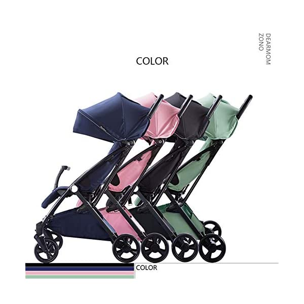 REMTI Pushchairs Baby Cart Sit Lie Boarding Portable Folding Portable Parachute Children Trolley,Ash  Trolley type: boarding trolley Types of wheels for children's cars: natural rubber Frame material: high carbon steel / bearing: 25kg Basket fabric: pure cotton Age: new, 2, 3, 4 3