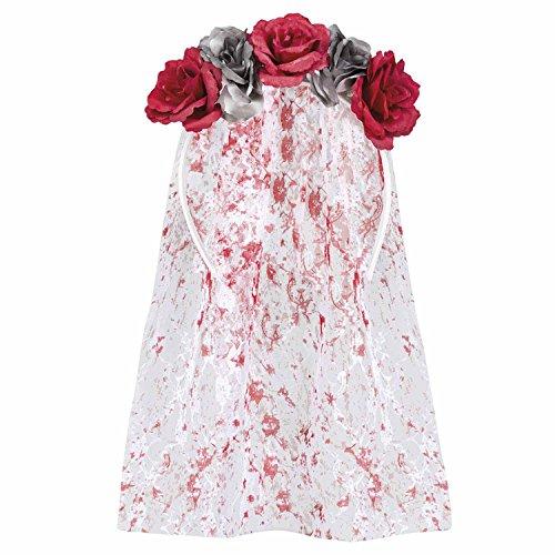 Psycho Braut Kostüm - Boland 72128 Haarreif Blumen, One