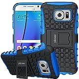 Coque Galaxy S7, Bouclier Série Smartphone Etui Housse Anti-Slip Samsung Galaxy S7 Coque de Protection en TPU avec Absorption de Choc Béquille et Anti-Scratch (Bleu)