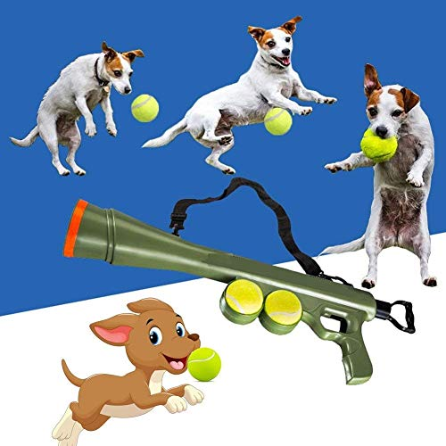 Pets Empire Dog Tennis Ball Blaster Launcher Gun Rated Toy Includes 2 Balls Sports Game Thrower